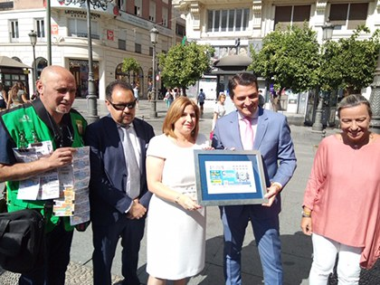Presentación del cupón de la ONCE dedicado al Reloj de la Plaza de las Tendillas de Córdoba