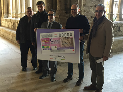 La ONCE ha presentado el cupón que dedica al reloj del Campanario de la Seu Vella