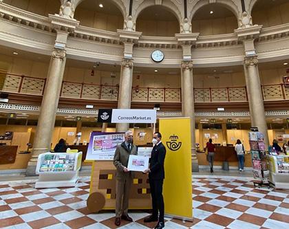 Presentación del cupón dedicado al reloj del Edificio Principal de Correos de Valencia