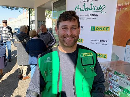 Francisco Javier Ramos, vendedor de la ONCE que ha repartido más de 1,7 millones de euros del Sorteo 11 del 11 de la ONCE en Sevilla
