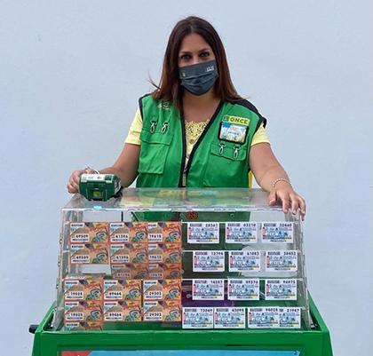Marisol Saldaña, vendedora de la ONCE en Chiclana de la Frontera