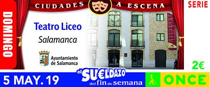 Cupón de la ONCE dedicado al Teatro Liceo de Salamanca