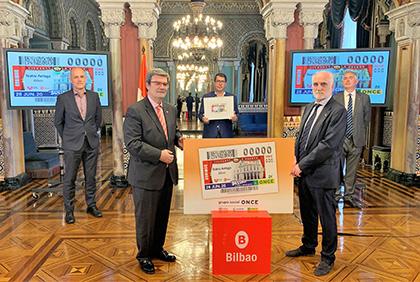 Presentación del cupón dedicado al Teatro Arriaga de Bilbao