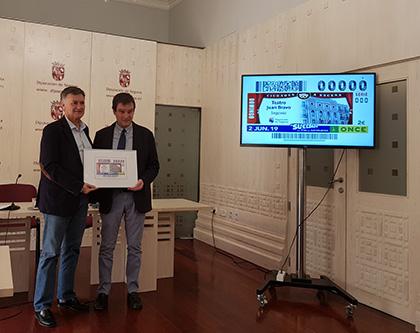Presentacion del cupon dedicado al Teatro Juan Bravo de Segovia