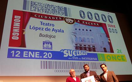 Presentación del cupón de la ONCE dedicado al Teatro López de Ayala
