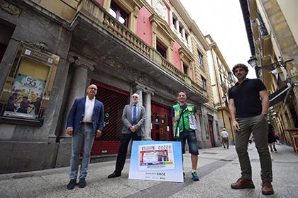 Presentación del cupón dedicado al Teatro Principal de Donostia