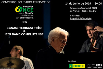 Cartel publicitario del concierto solidario del 14 de junio