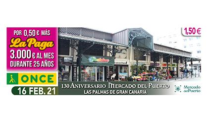 Cupón dedicado al 130 aniversario del Mercado del Puerto de Las Palmas