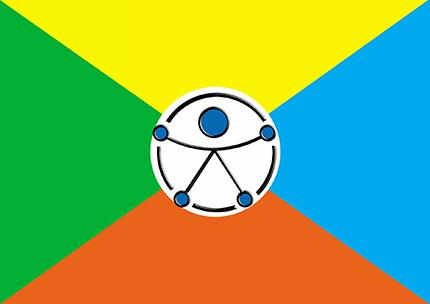 Bandera por la inclusión diseñada por estudiantes de Ferrol