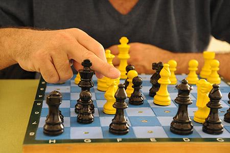 Tablero de ajedrez para ciegos