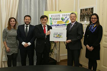 Presentación del cupón que la ONCE dedica a Honduras, en la serie Solidarios con Iberoamérica
