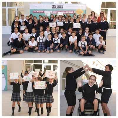 Collage con varios momentos de la presentación del 35 Concurso Escolar