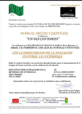 Cartel con la actuación de la Luciérnaga para EDEPA