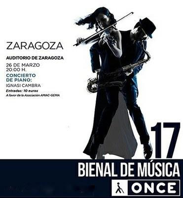 Cartel concierto Ignasi Cambra en Zaragoza