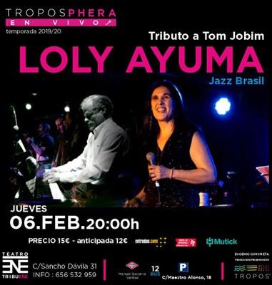 Cartel concierto Loly Ayuma Tributo a Tom Jobim
