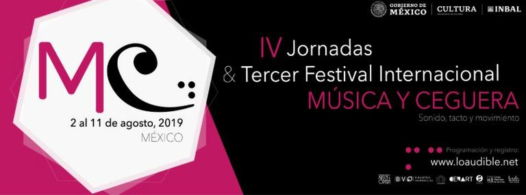 Cartel Festival Música y Ceguera