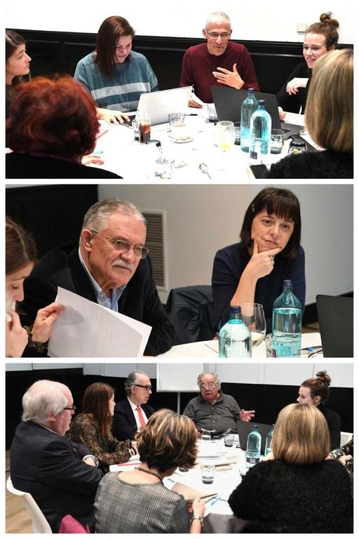 Collage con las reuniones de cada uno de los jurados