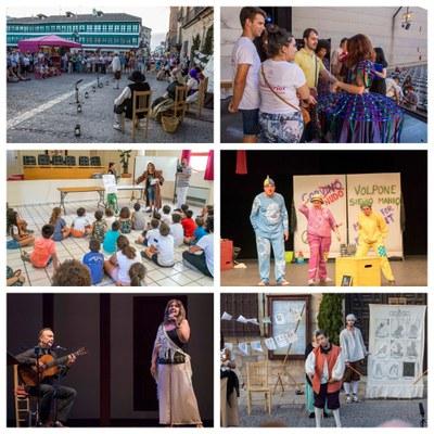 Collage con varios momentos del Festival Internacional de Teatro de Almagro