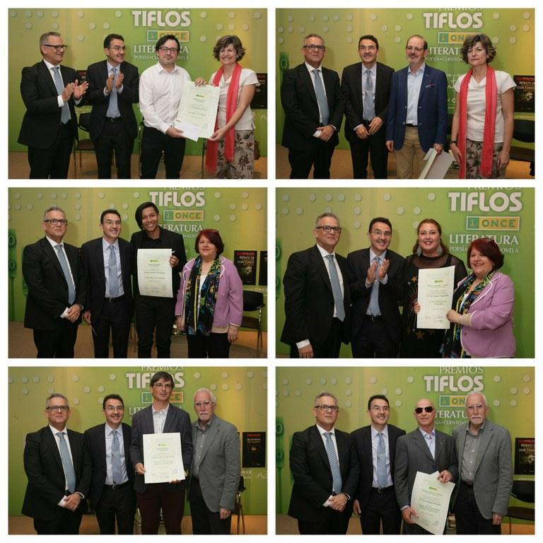 Collage ganadores de los Premios Tiflos de Literatura 2018