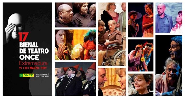 Collage grupos participantes en la 17 Bienal de Teatro ONCE