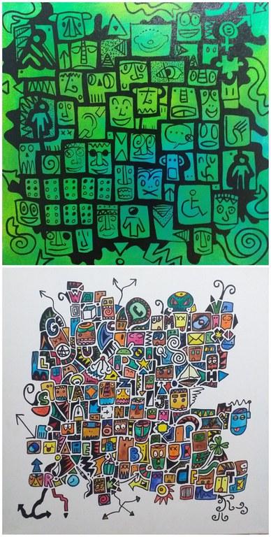 Collage obras de Natán Tarragó