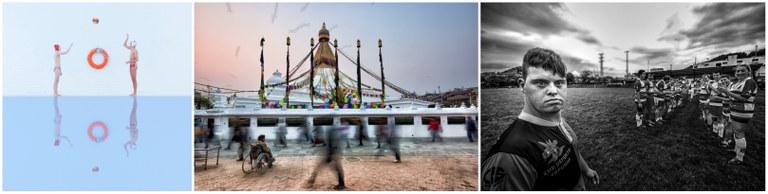 Collage con los tres premios ganadores en la categoría de País Vasco
