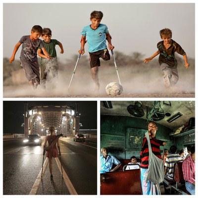 Collage con las tres fotografías ganadoras del XVII Concurso Fotográfico Euskadi