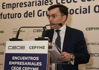 Alberto Durán en encuentro empresarial CEOE-Cepyme
