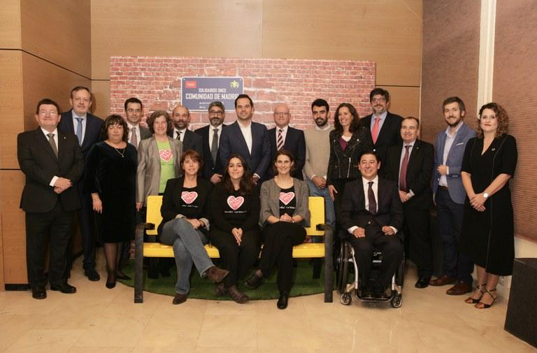 Autoridades y Premios Solidarios Madrid 2019