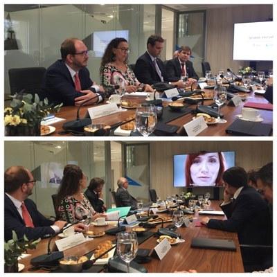 Visita de Gabriela Michetti al Grupo Social ONCE
