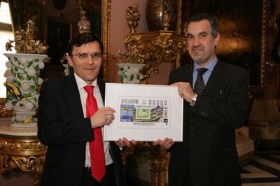 Presentación del cupón dedicado al Año Europeo del Patrimonio Cultural