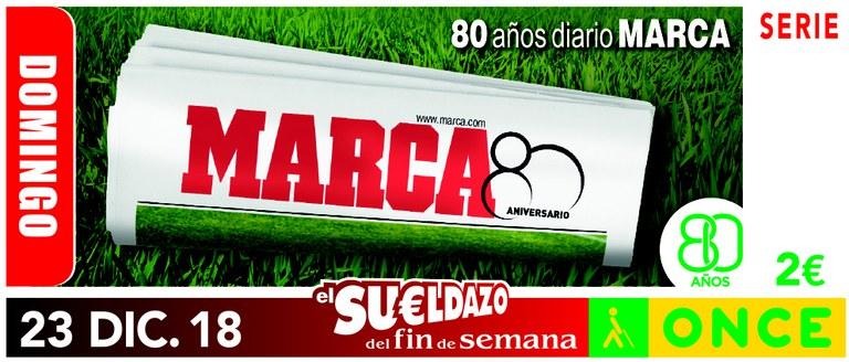 Cupón del 23 de diciembre dedicado al 80 aniversario del Diario Marca