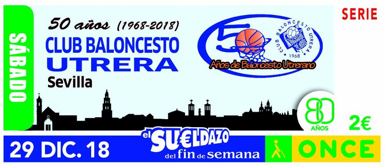 Cupón del 29 de diciembre dedicado al Club de Baloncesto de Utrera