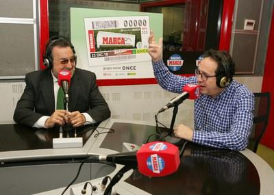 El presidente de la ONCE y el director de Marca en los estudios de Radio Marca