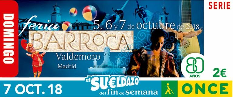 Cupón del 7 de octubre dedicado a la Feria Barroca de Valdemoro