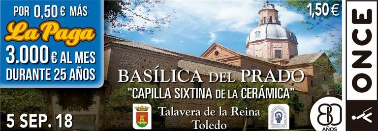 Cupón del 5 de septiembre dedicado a la Basílica del Prado de Talavera de la Reina
