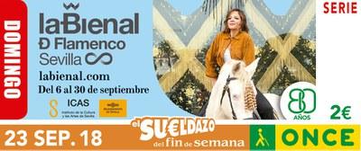 Cupón del 23 de septiembre dedicado a la XX Bienal de Flamenco de Sevilla