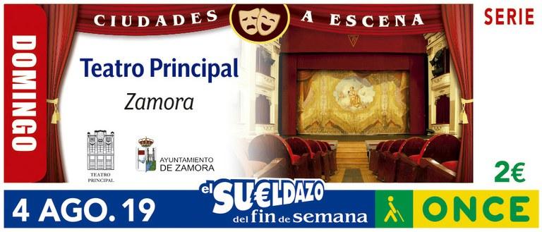 Cupón del 4 de agosto dedicado al Teatro de Zamora