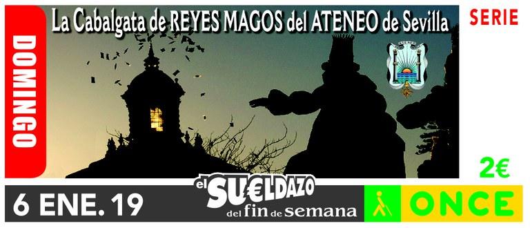 Cupón del 6 de enero dedicado a la Cabalgata de Reyes de Sevilla