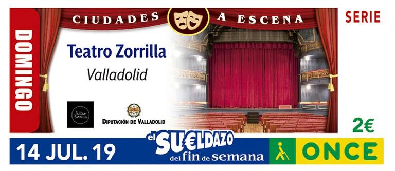 Cupón del 14 de julio dedicado al Teatro Zorrilla