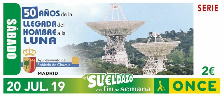 Cupón del 20 de julio dedicado al 50 aniversario de la llegada del hombre a la Luna