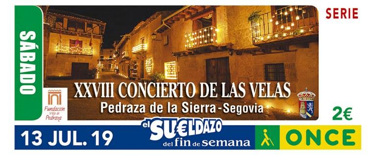 Cupón del 13 de julio dedicado al concierto de Velas de Pedraza