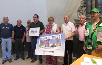 Presentación del cupón del 29 de julio dedicado al 800 aniversario de Santa Marta en Martos