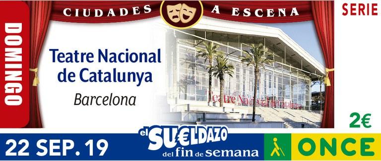 Cupón del 22 de septiembre dedicado al Teatre Nacional de Catalunya