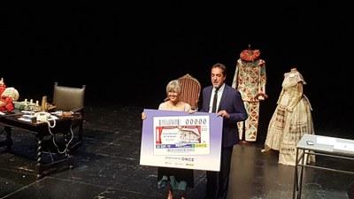 Presentación del cupón del 22 de septiembre dedicado al Teatro Nacional de Cataluña