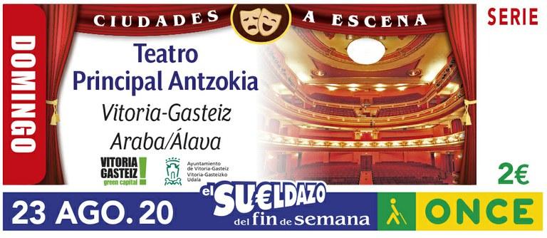 Cupón del 23 de agosto dedicado al Teatro de Vitoria