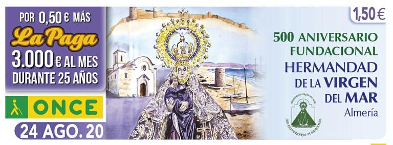 Cupón del 24 de agosto dedicado a la Virgen del Mar de Almería