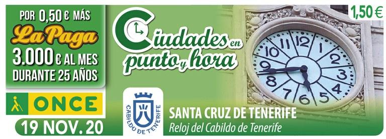 Cupón del 19 de noviembre dedicado al cupón del Cabildo de Tenerife