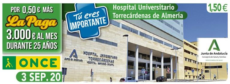 Cupón del 3 de septiembre dedicado al Hospital Torrecárdenas de Almería