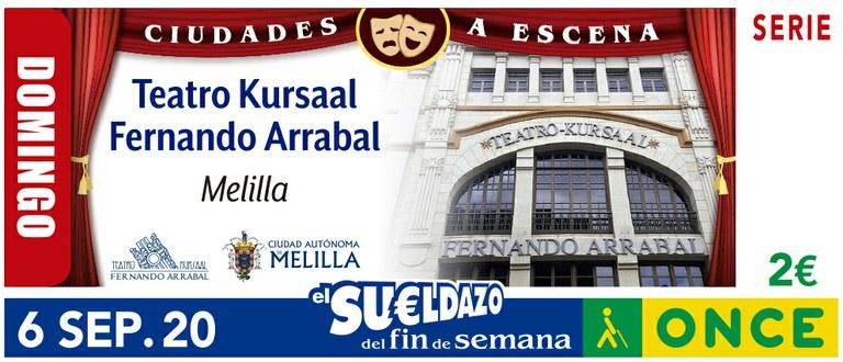 Cupón del 6 de agosto dedicado al Teatro Kursaal de Melilla